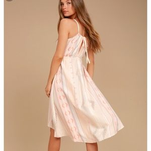 O'Neil cotton tribal adjustable back dress small